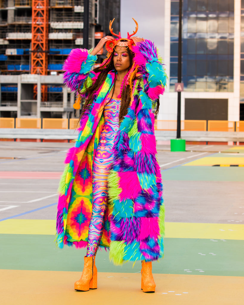 Mixed Lollies Party Mix Faux Fur Jacket