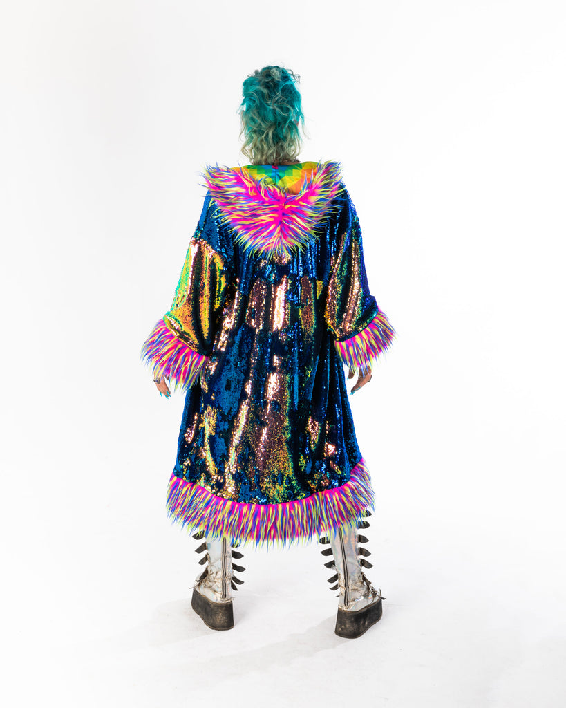 *ONE OF A KIND* 'RAVE MUPPET' Sequin Kimono