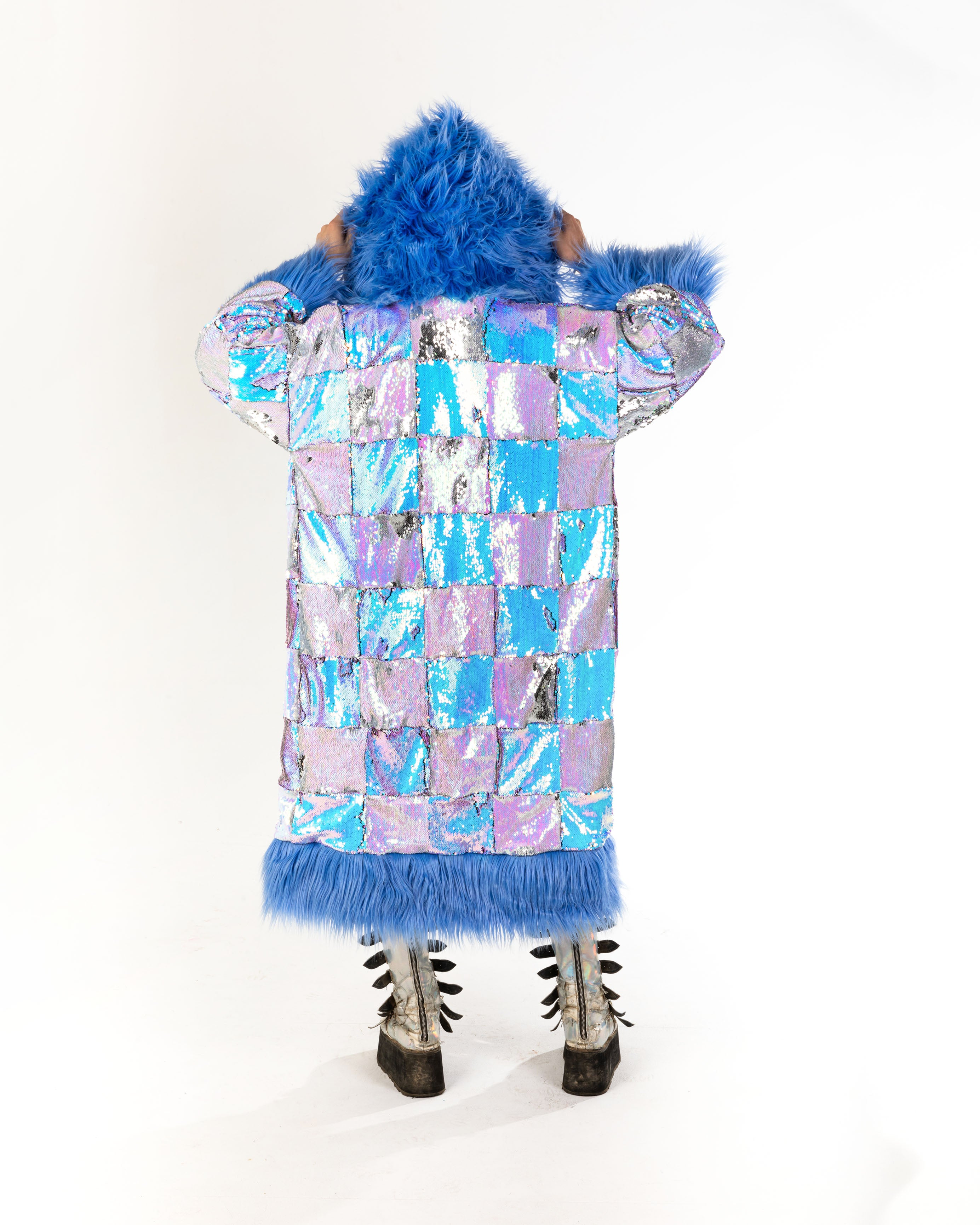 *ONE OF A KIND* 'SNOW QWEEN' Sequin Snugglemono
