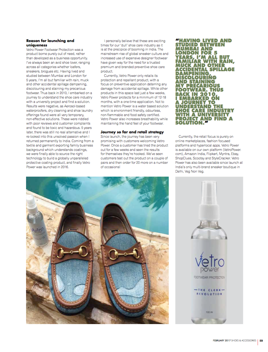 Vetro Power Shoes & Accessories February 2017