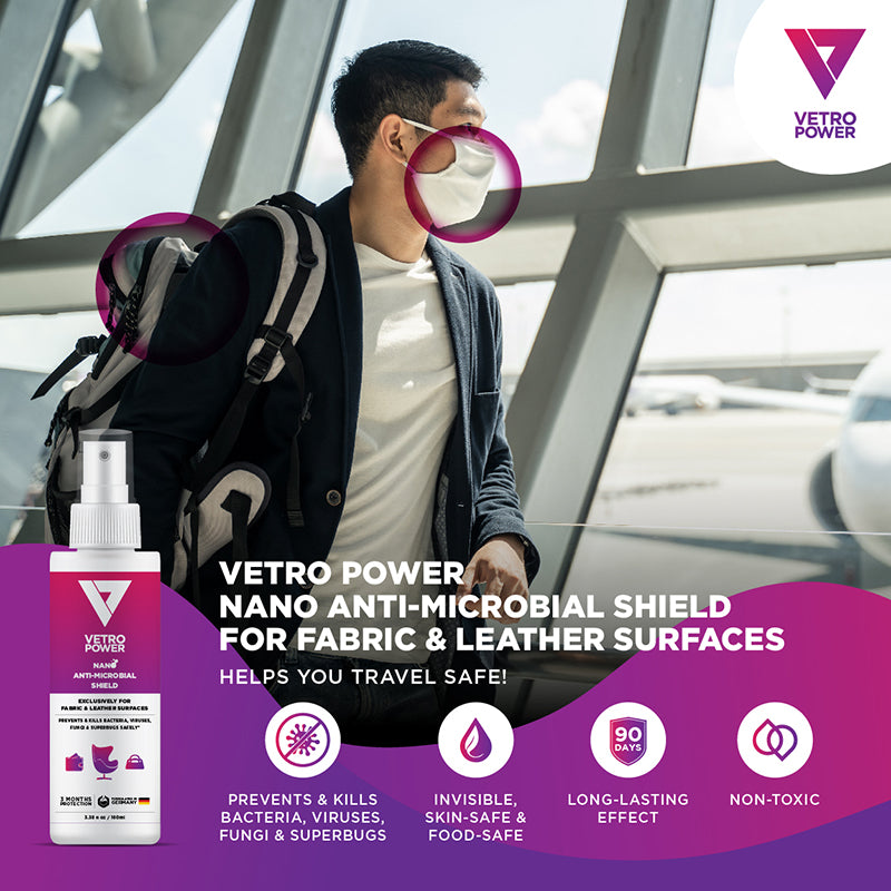 Vetro Power Nano Anti-Microbial Shield 100ml for Fabric & Leather Surfaces
