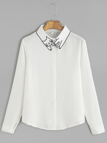 cat collar shirt