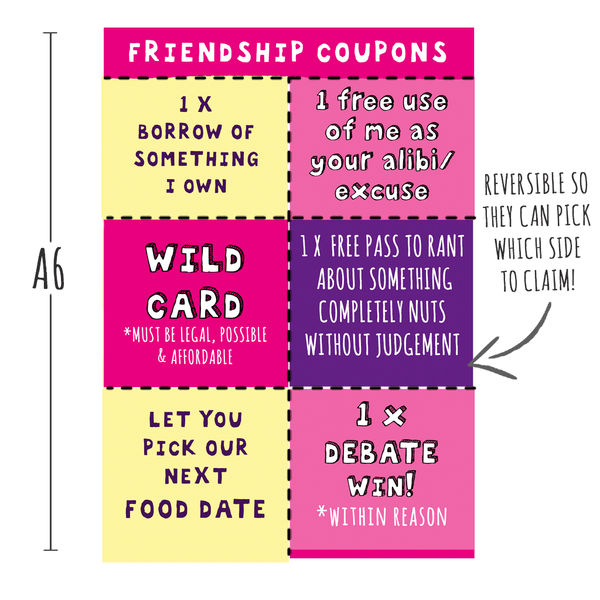 NEW! Friendship Coupons!