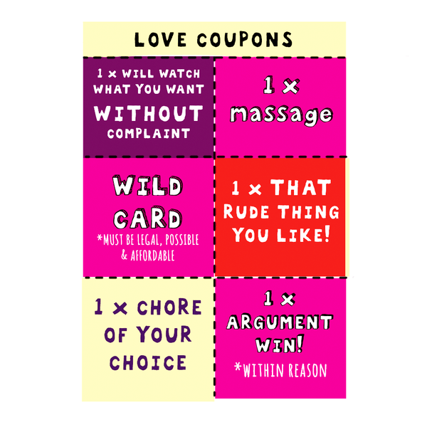 NEW! Love Coupons!