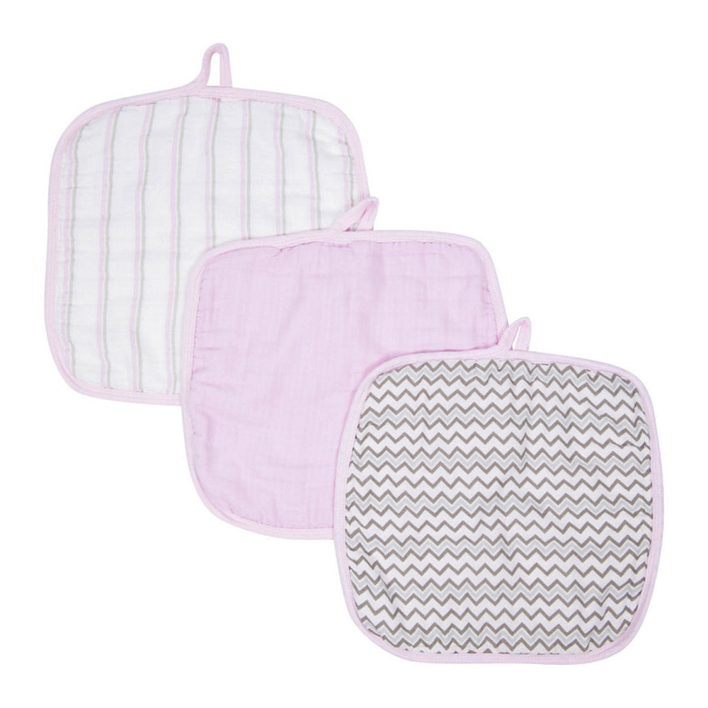 Miracle Blanket - Baby Wash Cloths - 3 Pack Pink Chevron