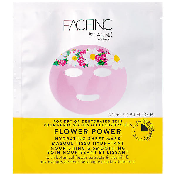 Face Inc - Flower Power Sheet Face Mask