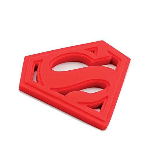 Superman Shaped Silicone Teether - DC Comics
