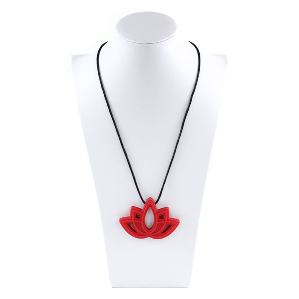 Bumkins - Nixi Silicone Teething Jewellery - Red Lotus
