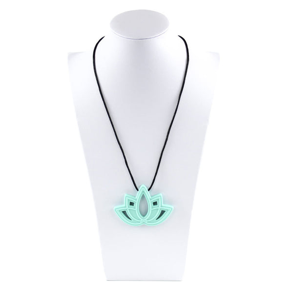 Bumkins - Nixi Silicone Teething Jewellery - Aqua Lotus
