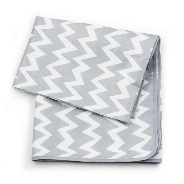Bumkins Waterproof Splat Mat - Grey Chevron