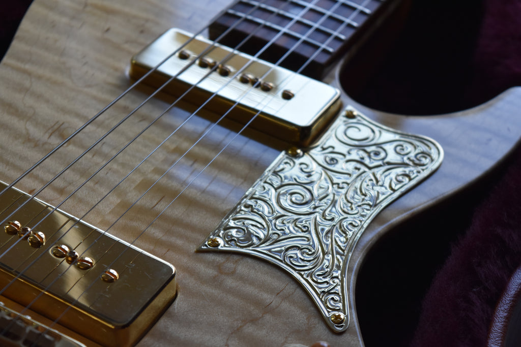 Ornate Engraved Pickguard - Little Sister