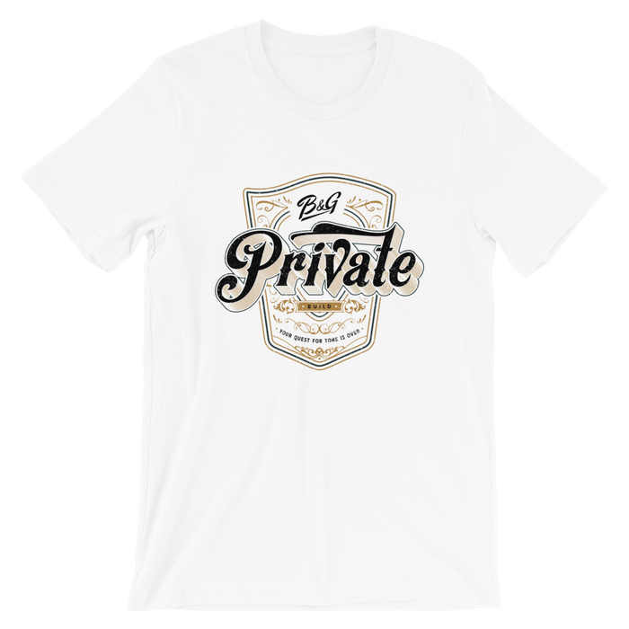 PRIVATE BUILD T-SHIRT (WHITE)