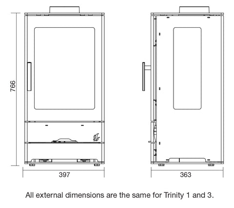 ACR Trinity 3 Dimensions - Stove Supermarket