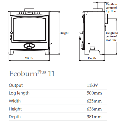 Ecoburn Plus 11 - Stove Supermarket