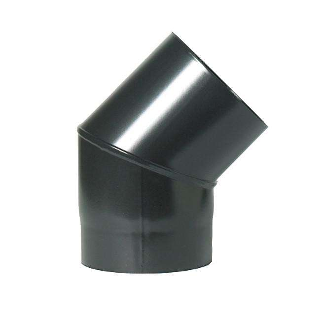 "125mm (5"") x 45° Degree Elbow Black Flue Pipe"