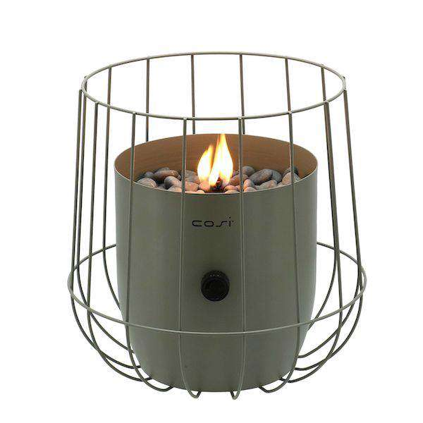 Pacific Lifestyle Cosiscoop Olive Basket Garden Table Top Fire Lantern - Stove Supermarket