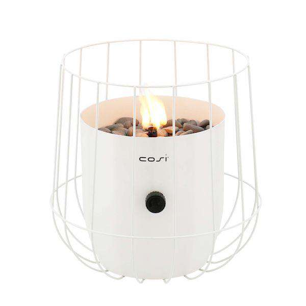 Pacific Lifestyle Cosiscoop White Basket Garden Table Top Fire Lantern - Stove Supermarket
