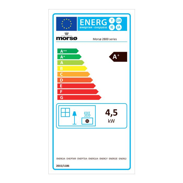 Morsø 2840 Convector Wood Burning Stove - Energy Label