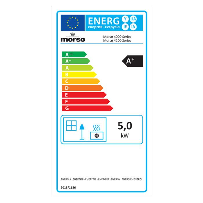Morsø 4043 Convector Wood Burning Stove - Energy Label