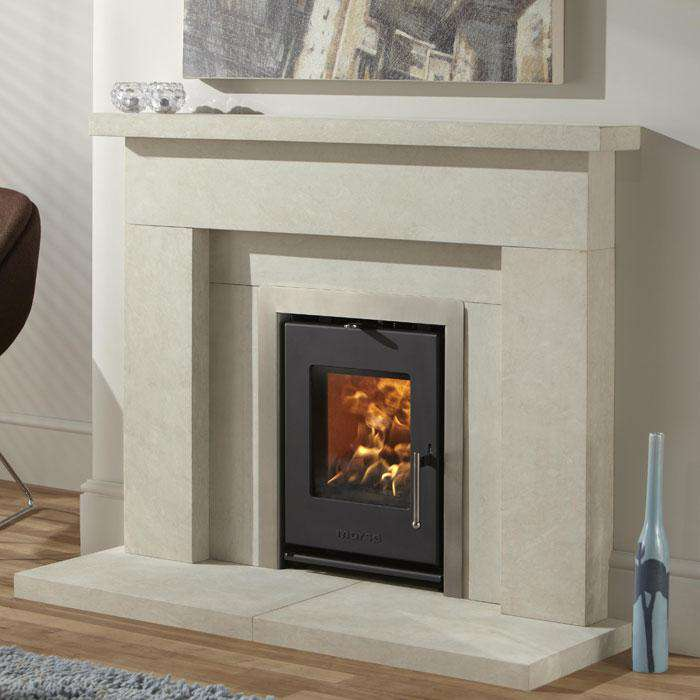 Morsø S-81 Inset Multi Fuel / Wood Burning Stove - Three-sided Steel Frame