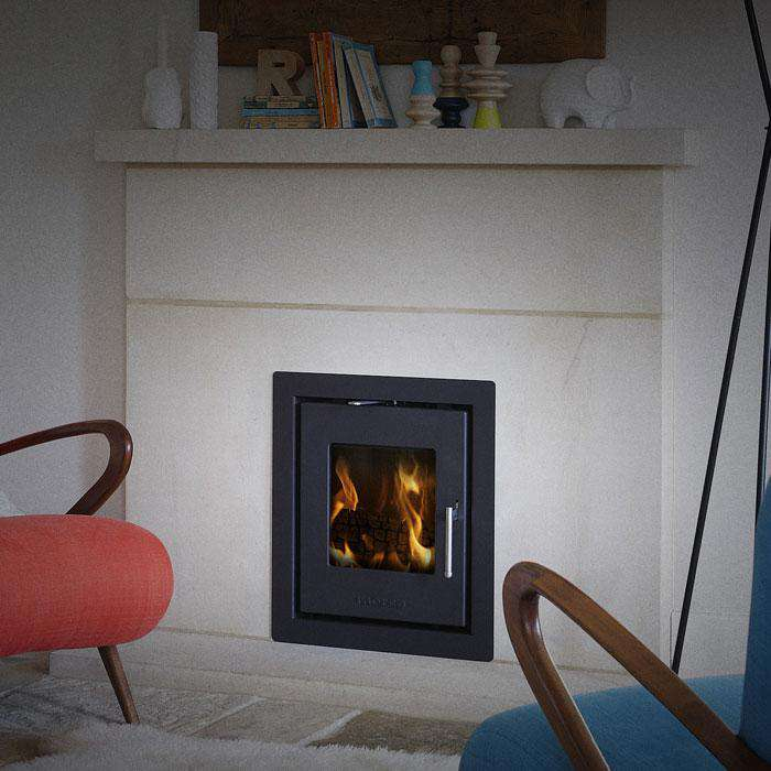 Morsø S-81 Inset Multi Fuel / Wood Burning Stove - Four-sided Frame