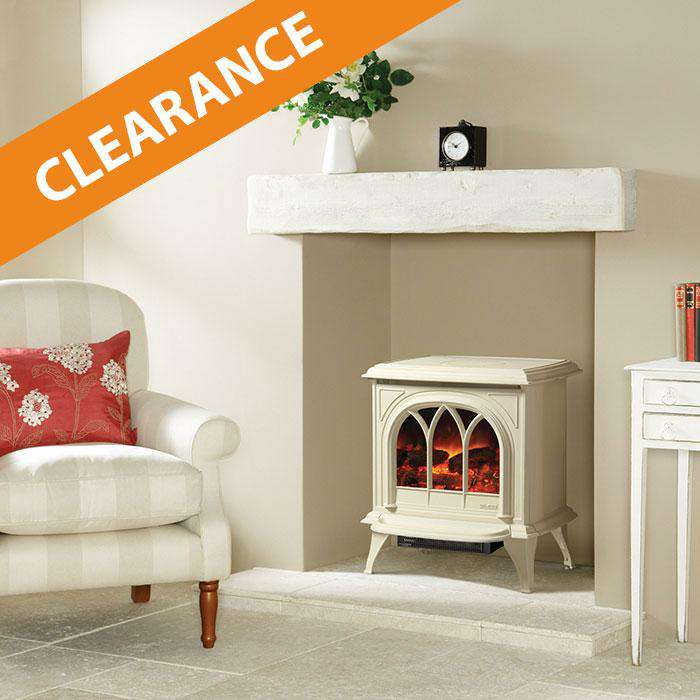 Gazco Huntington 30 Electric - Matt Ivory/Tracery Door - Stove - CLEARANCE