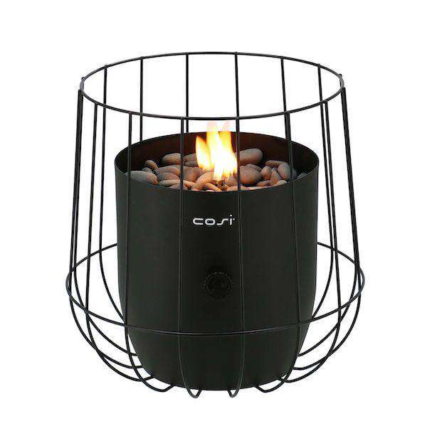Pacific Lifestyle Cosiscoop Black Basket Garden Table Top Fire Lantern - Stove Supermarket