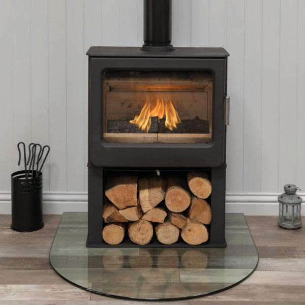 Mendip Ashcott Wide Log Store SE Wood Burning Stove