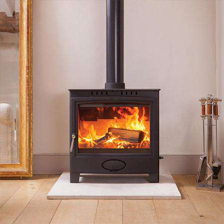 Aarrow Ecoburn Plus 11 Multi Fuel / Wood Burning Stove - live flame view