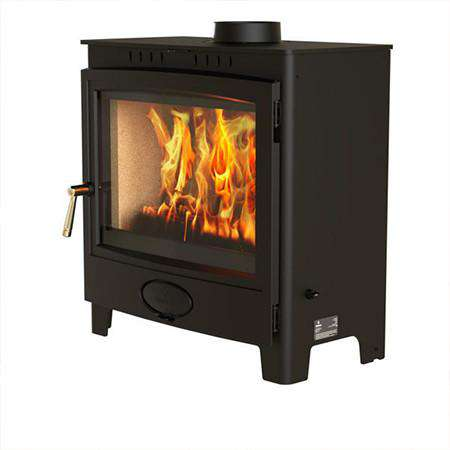Aarrow Ecoburn Plus 11 Multi Fuel / Wood Burning Stove - side front view