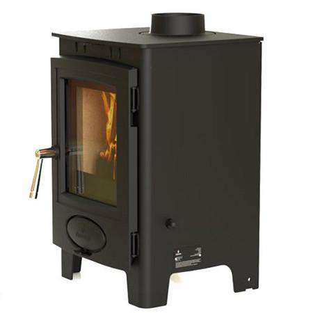 Aarrow Ecoburn Plus 4 Multi Fuel / Wood Burning Stove - right side view