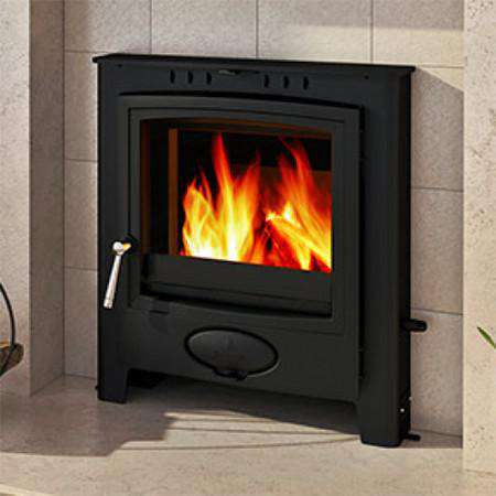 Aarrow Ecoburn Plus 5 Inset Multi Fuel / Wood Burning Stove - live flame