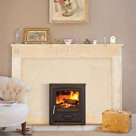 Aarrow Ecoburn Plus 7 Inset Multi Fuel / Wood Burning Stove - live flame view