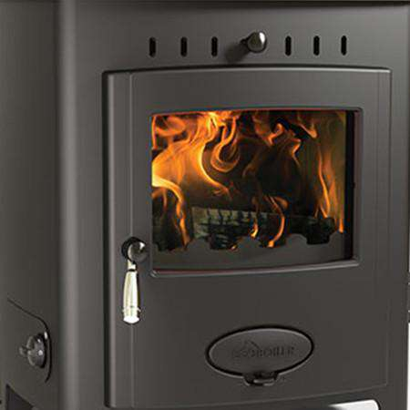 Aarrow Stratford Ecoboiler 12HE Multi Fuel / Wood Burning Boiler Stove - zoomed front