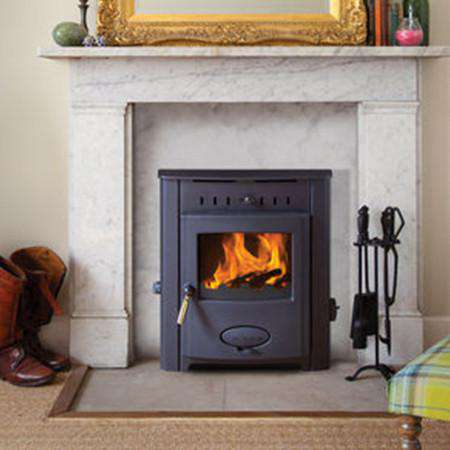 Aarrow Stratford Ecoboiler 12HE Inset Multi Fuel / Wood Burning Boiler Stove - front live view
