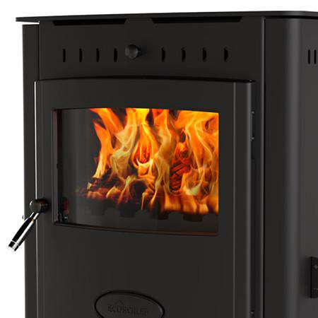 Aarrow Stratford Ecoboiler 16HE Inset Multi Fuel / Wood Burning Boiler Stove - front right zoom