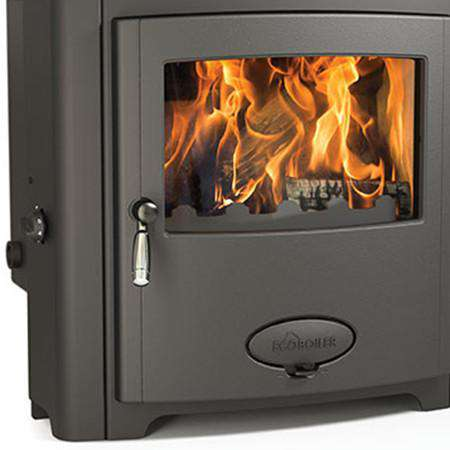 Aarrow Stratford Ecoboiler 16HE Inset Multi Fuel / Wood Burning Boiler Stove - front zoomed