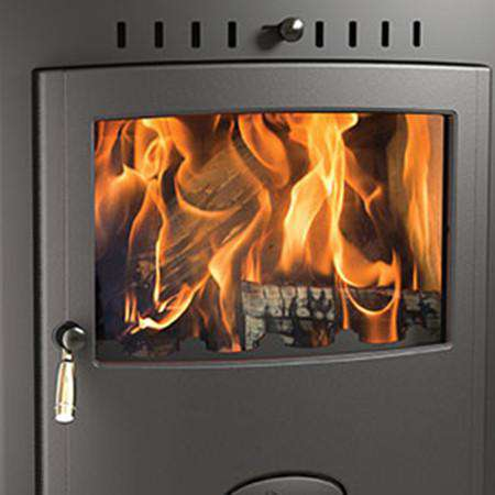 Aarrow Stratford Ecoboiler 25HE Multi Fuel / Wood Burning Boiler Stove - front zoomed