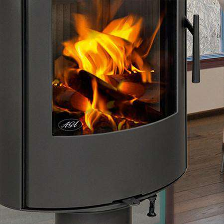 Aga Lawley Pedestal Wood Burning Stove - zoomed