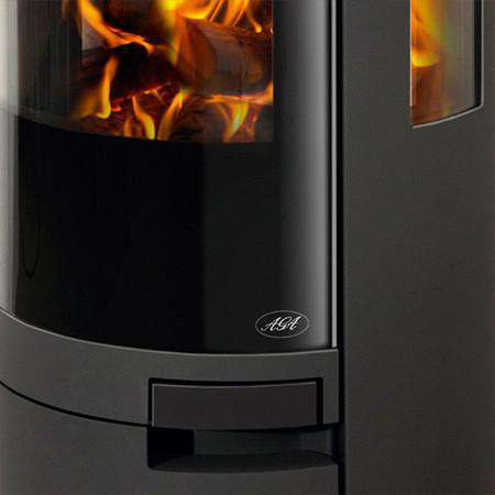 Aga Dorrington Wood Burning Stove - zoomed door