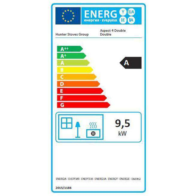 Parkray Aspect 4 Double Sided Double Depth - Energy Label