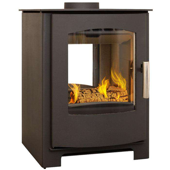 Mendip Churchill 8 Double Sided Multi Fuel / Wood Burning Stove - Stove Supermarket