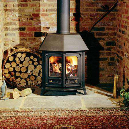 Charnwood Country 12 Wood Burning Stove - canopy view