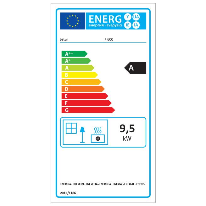 Jøtul F600 - Energy Label