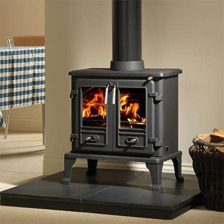 Firefox 8 Double Door Multi Fuel / Wood Burning Stove