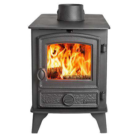 Hunter Hawk 4 Double Sided Multi Fuel / Wood Burning Stove