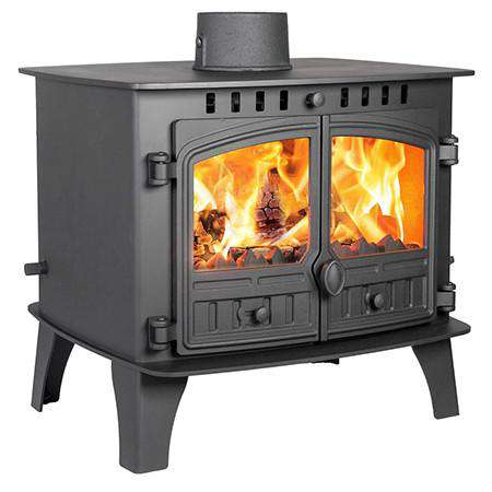 Hunter Herald 14 Double Sided Multi Fuel / Wood Burning Stove