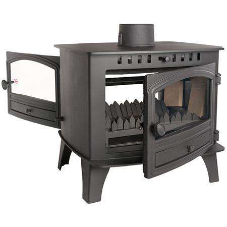 Hunter Herald 14 Double Sided Wood Burning Stove