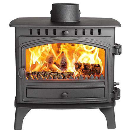 Hunter Herald 8 Double Sided Multi Fuel / Wood Burning Stove