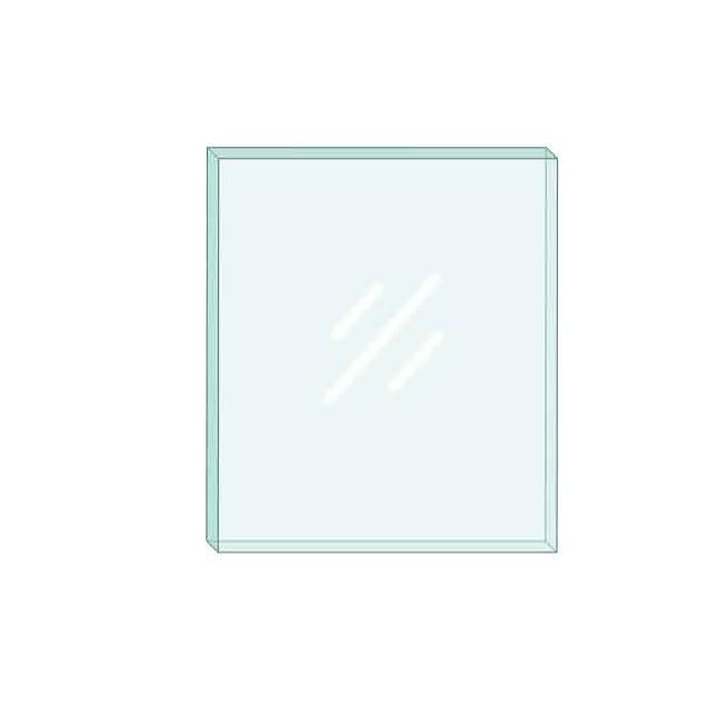 Broseley Amal-Opp Silver 5Kw Glass Panel - 256mm X 226mm